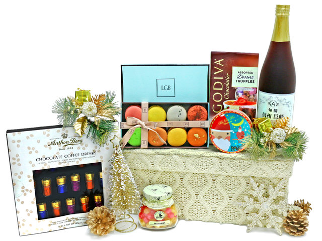 Christmas Gift Hamper - LGB Macaron Christmas Hamper M8 - L36669652 Photo
