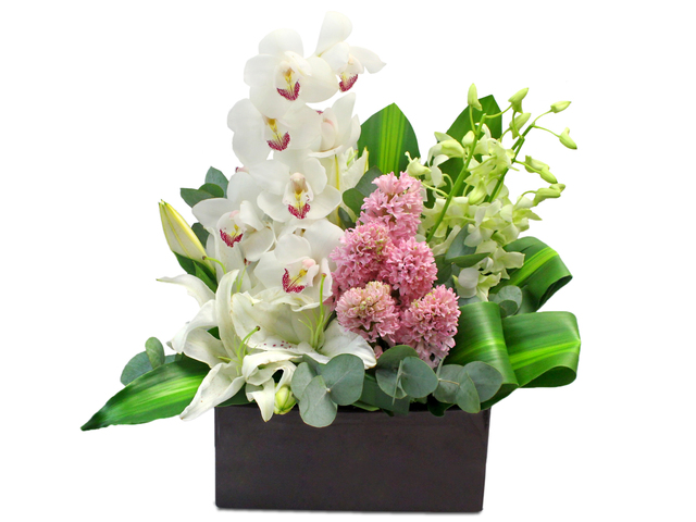 Florist Flower Arrangement - Orchid Florist Vase Decor 20 - L0199240 Photo