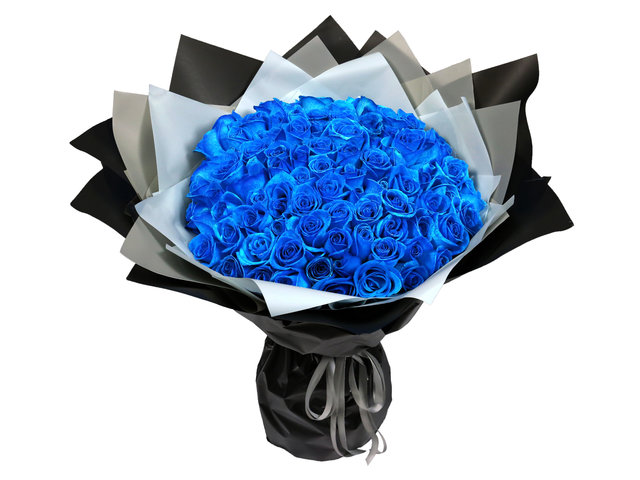 Florist Flower Bouquet - Blue rose bouquet CC01 - L8830 Photo