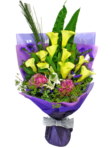 Florist Flower Bouquet - Calla Calla Bouquet - L16183 Photo