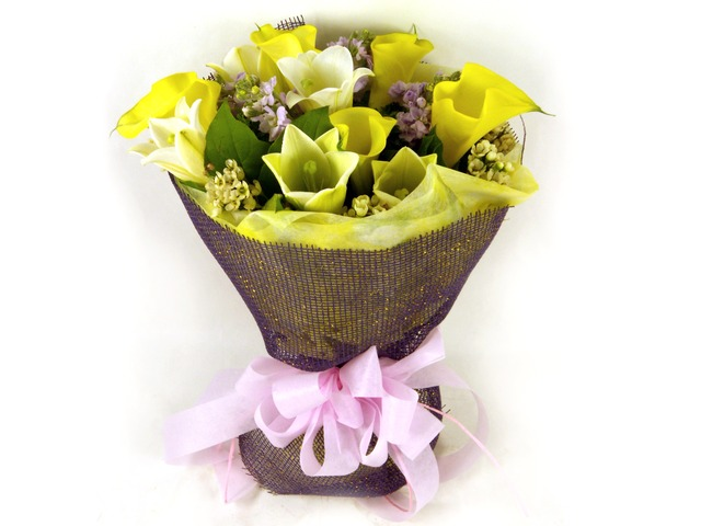 Florist Flower Bouquet - Calla-ful Bouquet - P15747 Photo