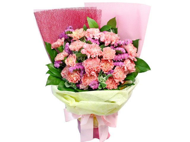 Florist Flower Bouquet - Carnations Bouquet F - L182361 Photo