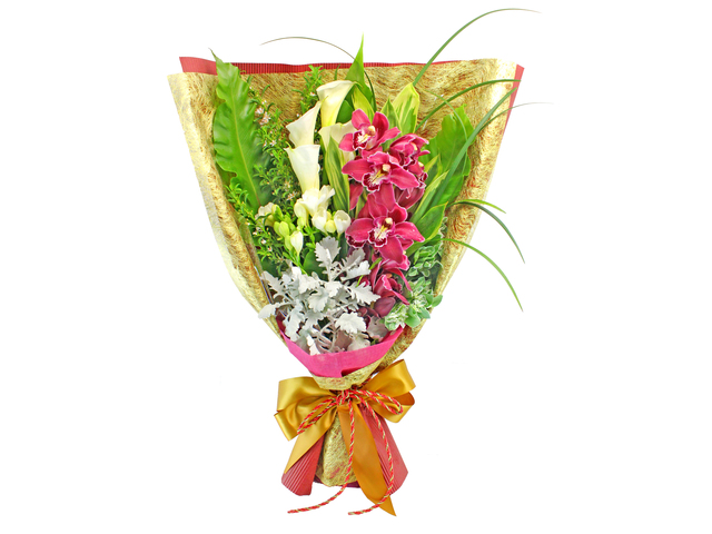 Florist Flower Bouquet - Cymbidium Bouquet 02 - L129046 Photo
