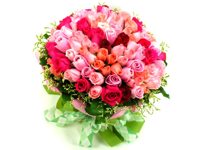 Florist Flower Bouquet - Fancied in Pink (99 Rose Bouquet) - P6644 Photo