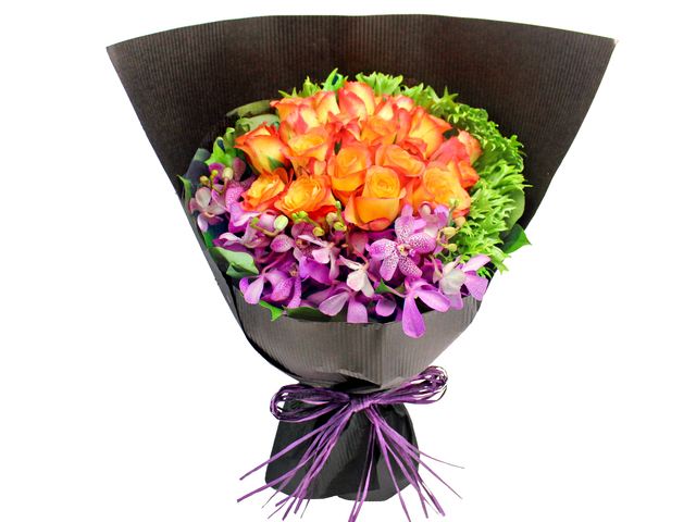 Florist Flower Bouquet - Florist Roses Bouquet 15 - L155062 Photo
