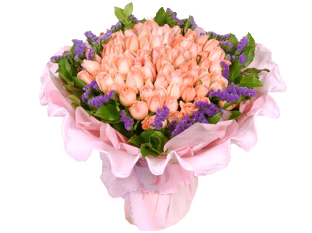 Florist Flower Bouquet - Flourished in Pink (99 Rose Bouquet) - P4689 Photo