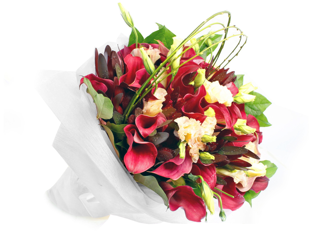 Florist Flower Bouquet - France style Calla Lily florist bouquet gift  RD29 - L88214b Photo