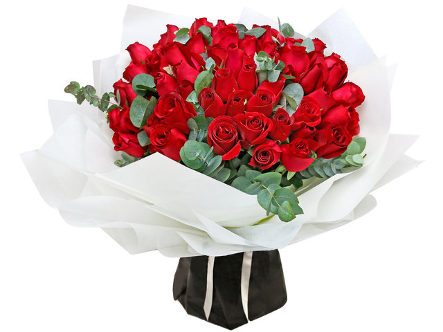Florist Flower Bouquet - France style bouquet of 99 red roses  RD18 - L766043172c Photo