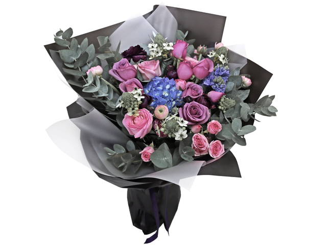Florist Flower Bouquet - France style purple florist bouquet gift RD10  - L76604265 Photo