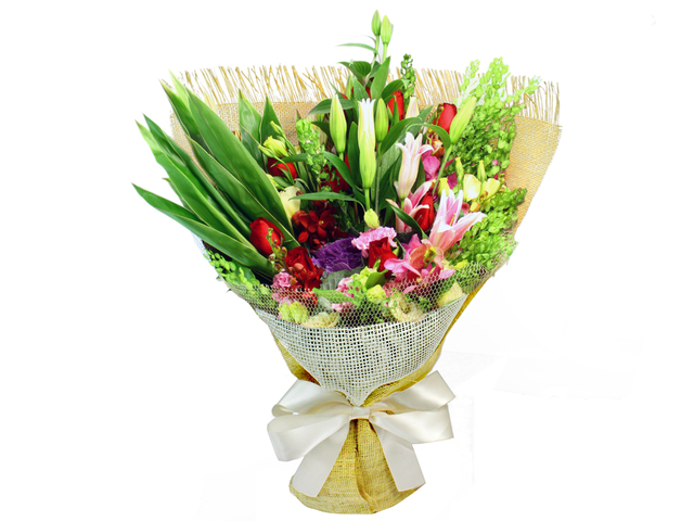 Florist Flower Bouquet - Glass  Florist Bouquet TG10 - L0023406 Photo