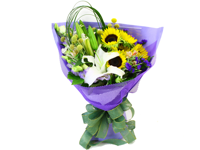Florist Flower Bouquet - Graduation Flower Bouquet Sun Flower 1 - L09729 Photo