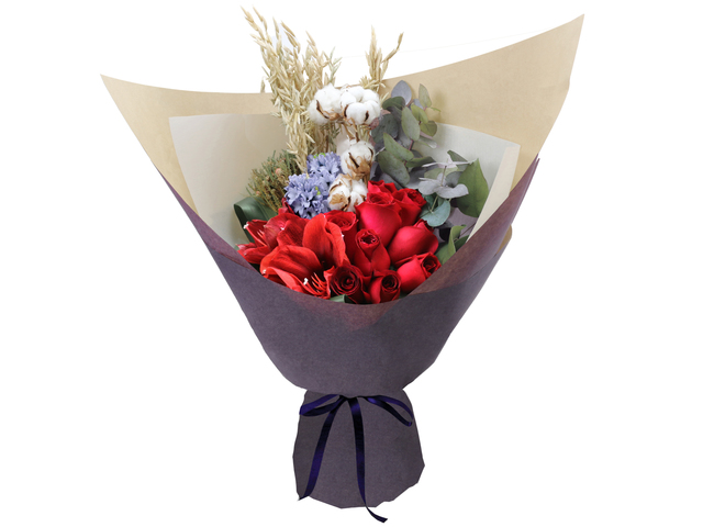 Florist Flower Bouquet - Italy style rose bouquet florist  RD15 - L76604338 Photo