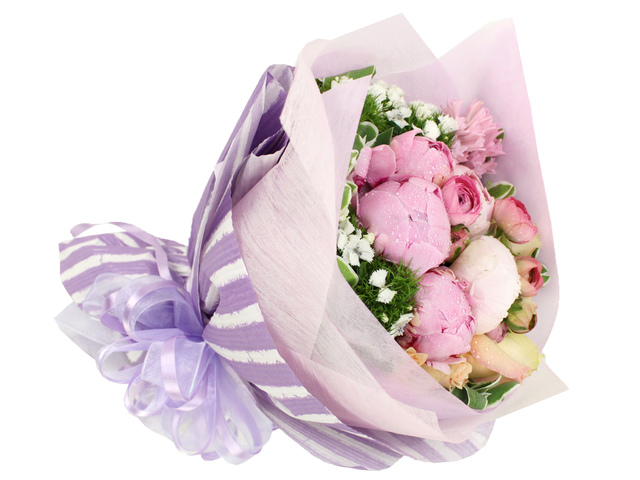 Florist Flower Bouquet - Peony Bouquet - B2632 Photo