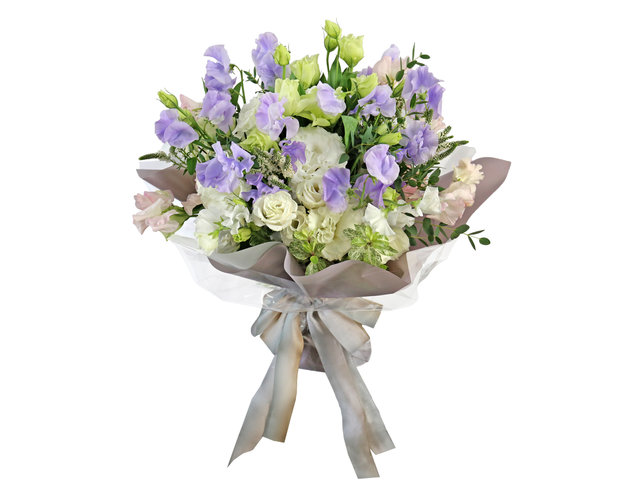 Florist Flower Bouquet - Sweet Pea Bouquet BG13 - L1572 Photo
