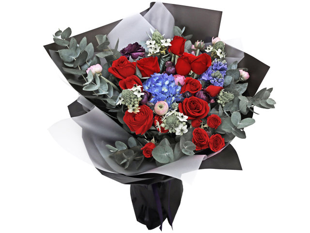 Florist Flower Bouquet - Valentine's Red Rose Florist Gift VB03 - BV2S0210A3 Photo