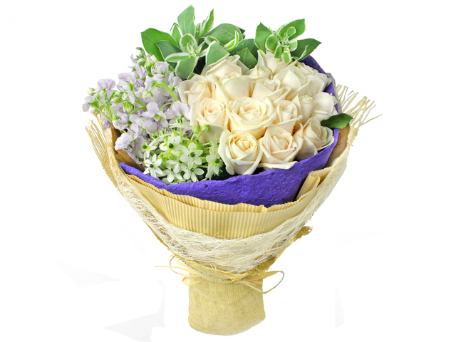 Florist Flower Bouquet - White flower bouquet bq01 - L0197404 Photo