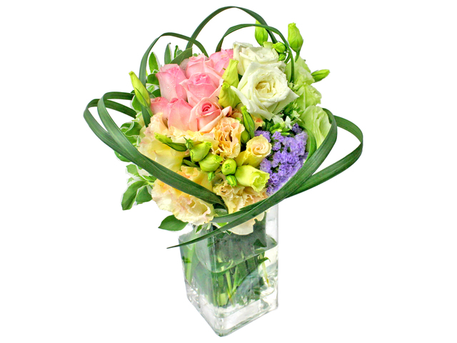 Florist Flower in Vase - Glass Vase Florist Decor B1 - L0196241 Photo