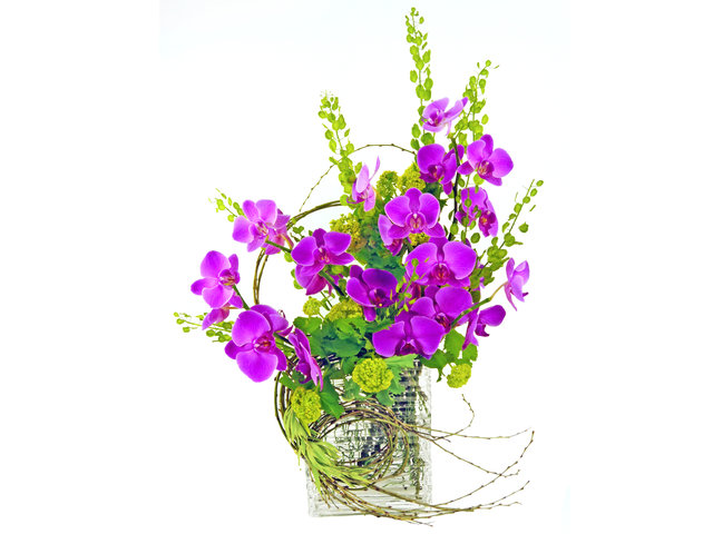 Florist Flower in Vase - Passionate Purple - P4300 Photo