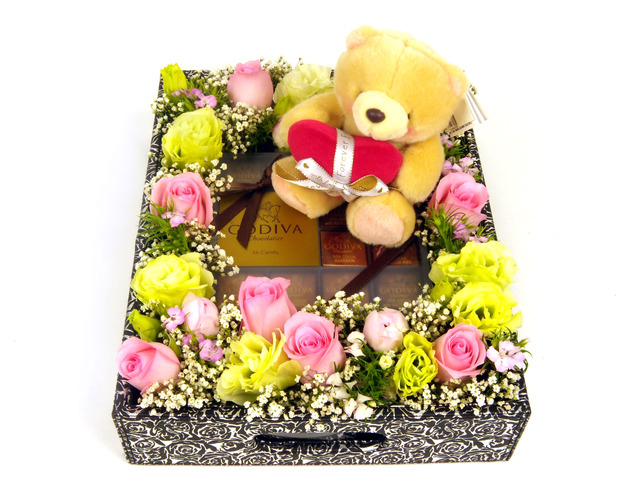 Florist Gift Set - Three Times the Charm / Brithday Gift (06) - P5149 Photo