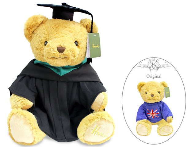 Florist Gift - Harrods Graduation Bear- Union Jack Bear - L132659 Photo