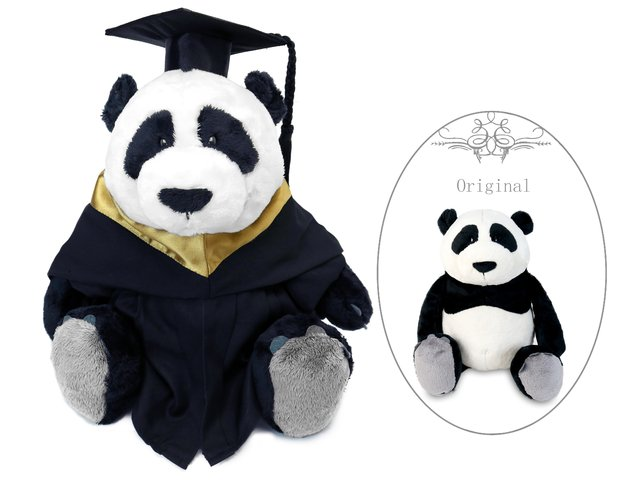 Florist Gift - Nici Graduation Doll - Panda - GTB0115A1 Photo