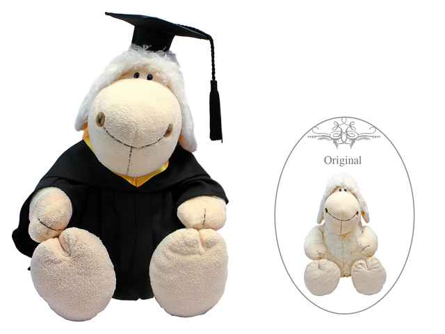 Florist Gift - Nici Graduation Doll - White Sheep - L3106141 Photo