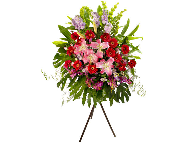 Flower Basket Stand - Business Flower Stand N1B - L81622b Photo