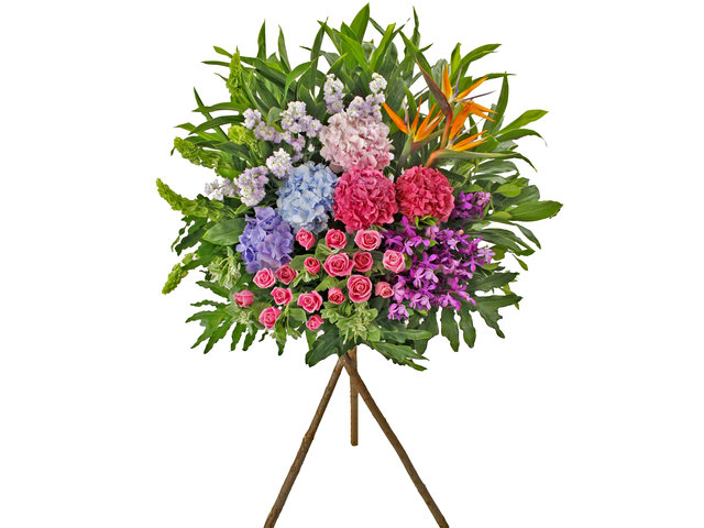 Flower Basket Stand - Business Flower Stand N3 - L89405 Photo