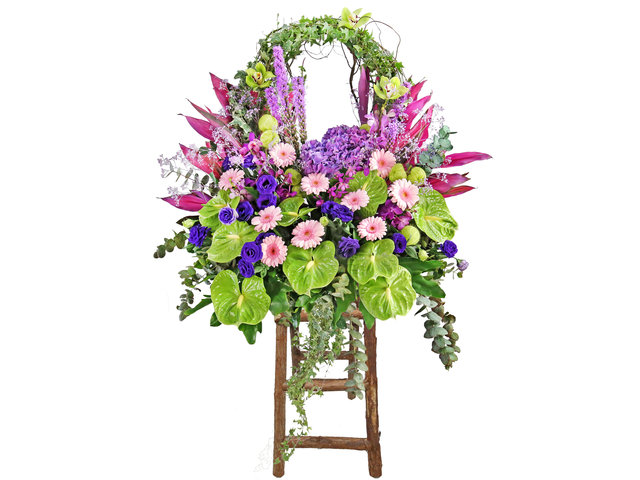 Flower Basket Stand - Commercial florist stand CL09 - L1579 Photo