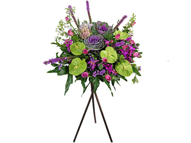 Flower Basket Stand - Commercial florist stand H02 - L2051 Photo