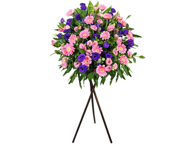Flower Basket Stand - Commercial florist stand H03 - L2154 Photo