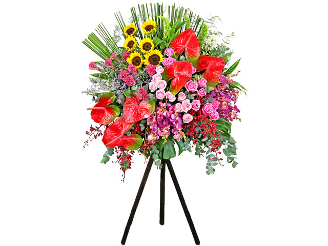 Flower Basket Stand - Commercial florist stand MD09 - L9785 Photo