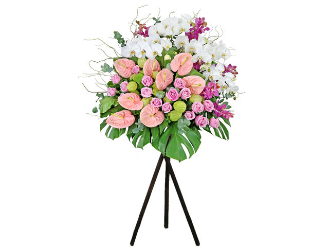 Flower Basket Stand - Commercial florist stand MD25 - SD0326A5 Photo
