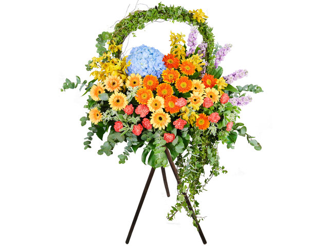 Flower Basket Stand - Commercial florist stand MD42 - SD1015B5 Photo