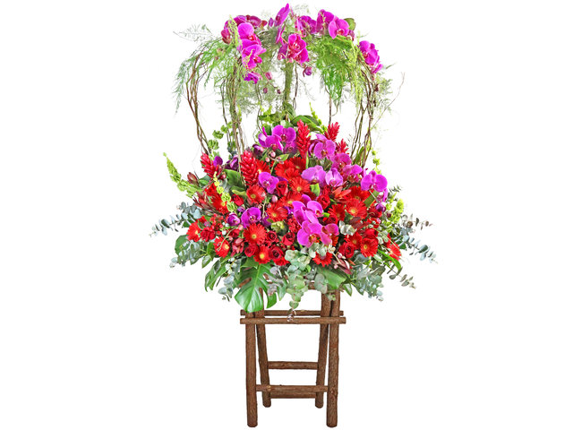 Flower Basket Stand - Commercial florist stand MD48 - SD0830C2 Photo