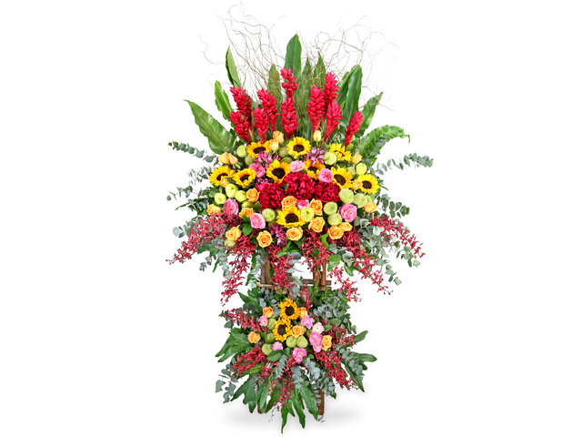 Flower Basket Stand - Commercial florist stand MD52 - SD0830A5 Photo