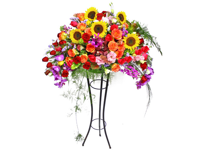 Flower Basket Stand - Grand Opening Basket 12 - L12513 Photo