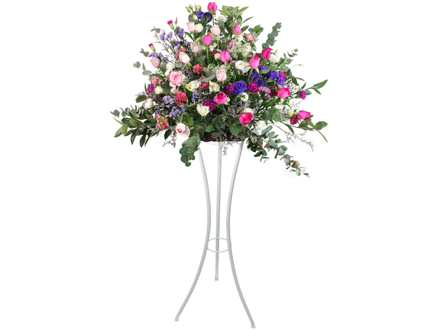 Flower Basket Stand - Italy style florist arrangement Collection 17 - L76600082 Photo