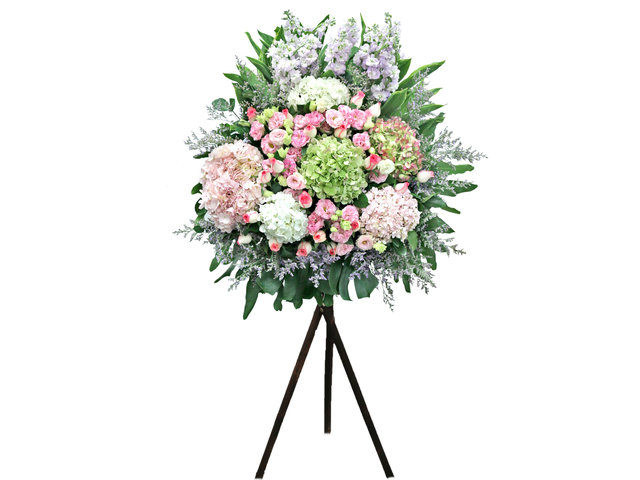 Flower Basket Stand - Opening florist Basket 03 - L36668723 Photo