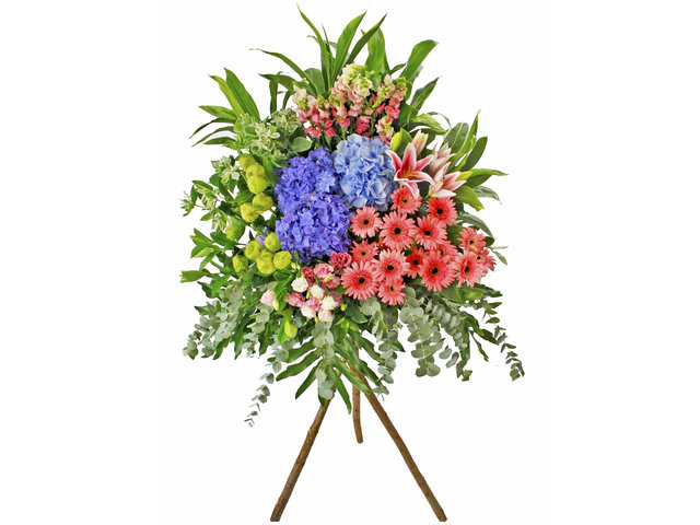 Flower Basket Stand - Opening florist Basket AK20 - L89396 Photo