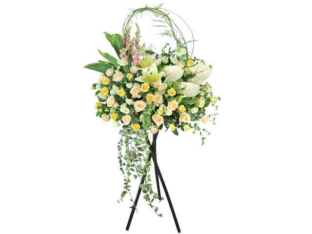 Flower Basket Stand - Opening florist Basket ET18 - L76607833 Photo