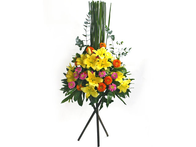 Flower Basket Stand - Opening flower basket 13 - L50427 Photo