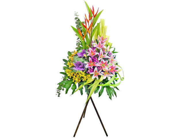 Flower Basket Stand - Opening flower basket A10 - L155061 Photo