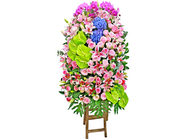 Flower Basket Stand - Opening flower basket A2 - L154070 Photo