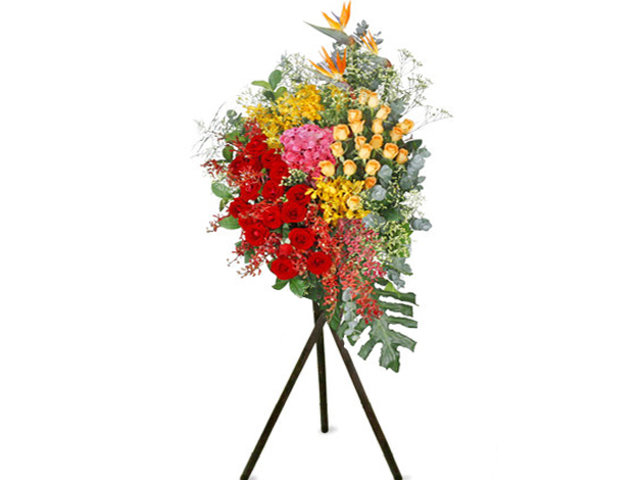 Flower Basket Stand - Openning Colorful florist stand  A35 - L76610642 Photo