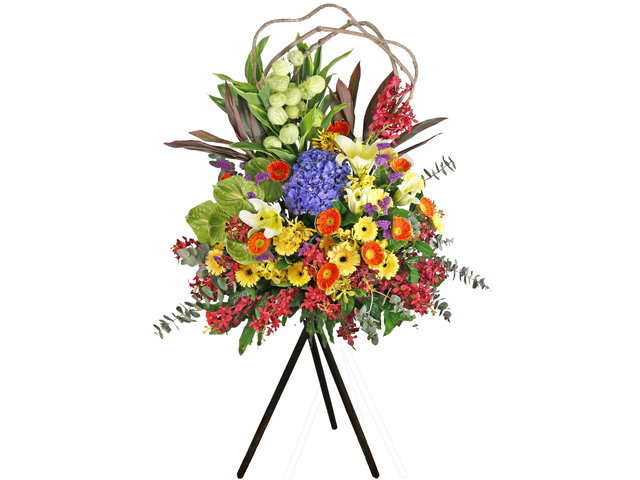 Flower Basket Stand - Openning Colorful florist stand  B10 - L76600155 Photo