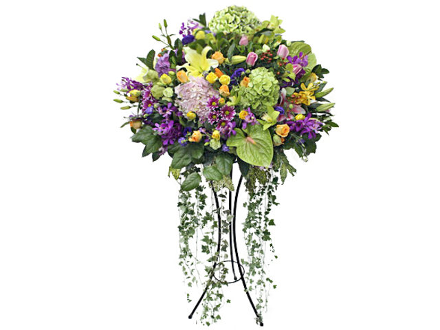Flower Basket Stand - Openning Colorful florist stand  B12 - L101788 Photo