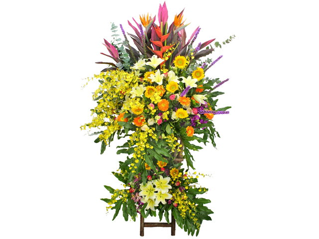 Flower Basket Stand - The bright Garden Opening Flower Baskets B2 - L105963 Photo