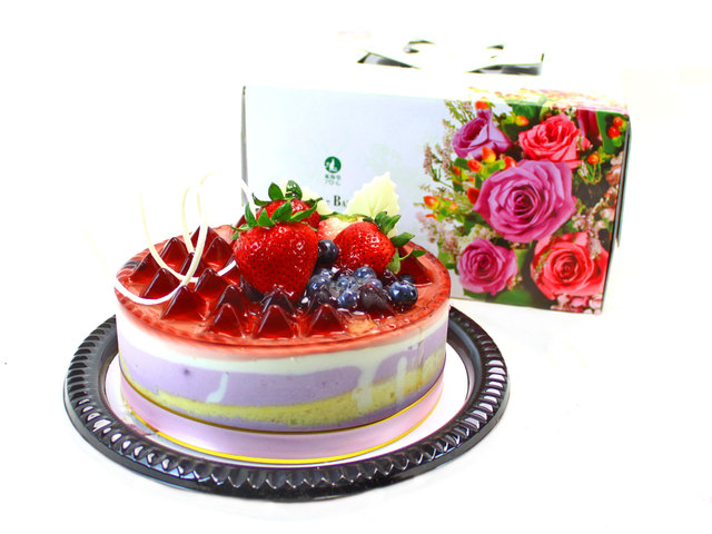 Fresh Cake - Arome Bakery - Blueberry Cheese Mousse - L37637 Photo