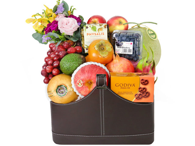Fruit Basket -  Elegant Fruits Hamper A4 - P16703 Photo